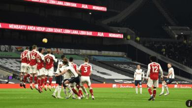 ديربي شمال لندن ارسنال يخسر امام توتنهام في الدوري الانجليزي