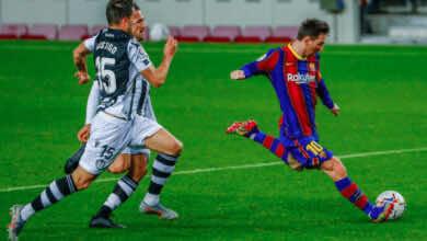 ليونيل ميسي - مباراة برشلونة وليفانتي في الدوري الاسباني - صور AFP