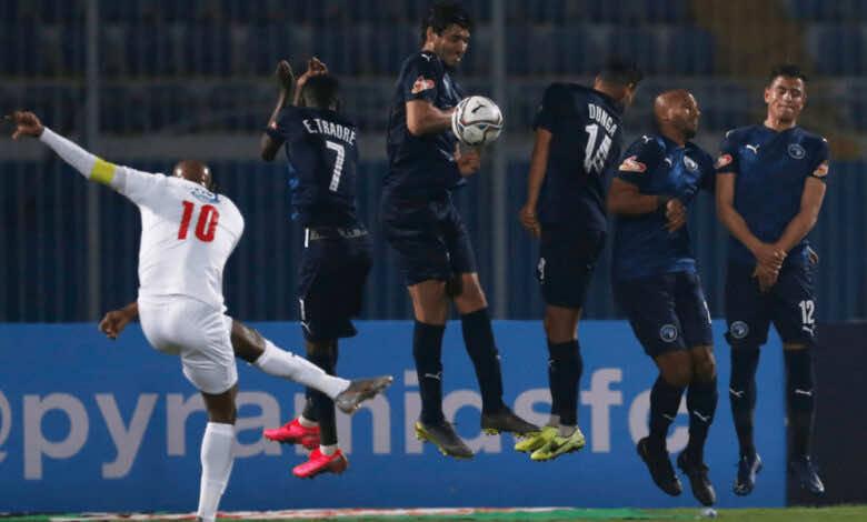 شيكابالا في مباراة بيراميدز والزمالك في الدوري المصري موسم 2021/2020