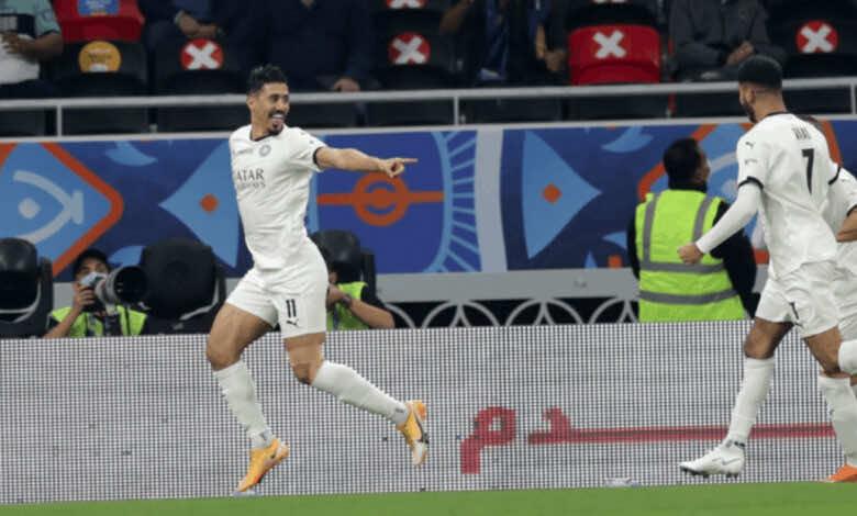 بغداد بونجاح يسجل ثنائية في نهائي كأس أمير قطر 2020 في مباراة السد والعربي