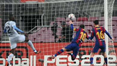 ليونيل ميسي يسجل هدف تعادل برشلونة امام فالنسيا في الدوري الإسباني
