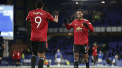 مارسيال يصنع ويسجل في فوز مانشستر يونايتد امام ايفرتون في ربع نهائي كأس رابطة الأندية الانجليزية المحترفة 2021