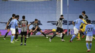 جوندوجان يسجل هدف في مباراة مانشستر سيتي ونيوكاسل بجولة البوكسينج داي 2020
