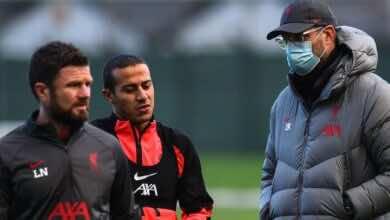 صدمة جديدة لجماهير ليفربول بشأن موعد عودة تياجو ألكانتارا من الإصابة