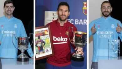 جوائز الأفضل في الدوري الاسباني تشهد تواجد ميسي وسط سيطرة من ريال مدريد
