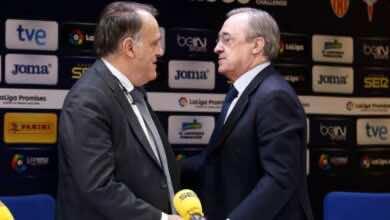 """رئيس رابطة الدوري الاسباني """"تيباس"""" يرد على إدعاء ريال مدريد بسخرية"""