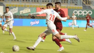 أشرف بنشرقي يسجل ثنائية مع الزمالك أمام مصر المقاصة في الدوري المصري 2021