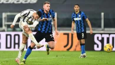 رونالدو - مباراة يوفنتوس والانتر فى كأس ايطاليا (صور:AFP)