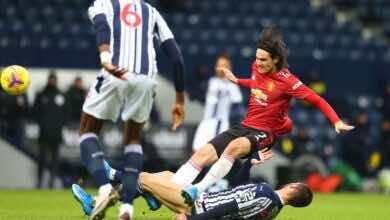 نتيجة مباراة مانشستر يونايتد ووست بروميتش في الدوري الانجليزي (صور:AFP)