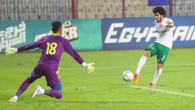 مباراة المصري البورسعيدي والبنك الاهلي فى الدوري المصري (صور:twitter)