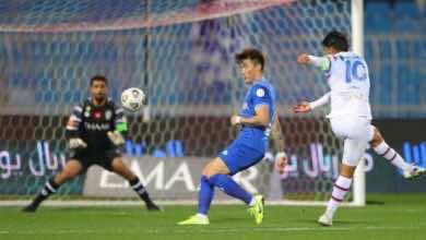 مباراة الهلال وابها فى الدوري السعودي (صور:twitter)