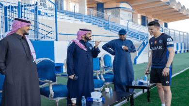 أولى تصريحات عبدالله الحمدان بعد انضمامه إلى الهلال - صور Twitter