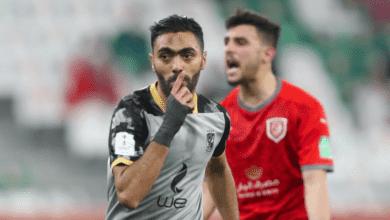 حسين الشحات يتقدم بهدف اول للنادي الاهلي امام الدحيل القطري