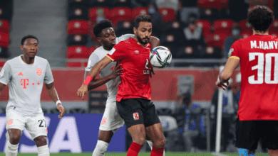 كهربا لاعب الأهلي المصري: نتطلع للمزيد بعد برونزية مونديال الأندية - صور Afp