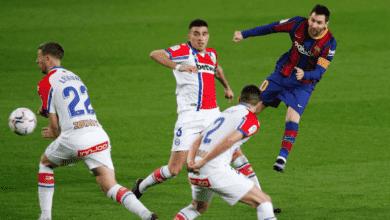 هدف ليونيل ميسي في مرمى ألافيس في الدوري الاسباني 2021