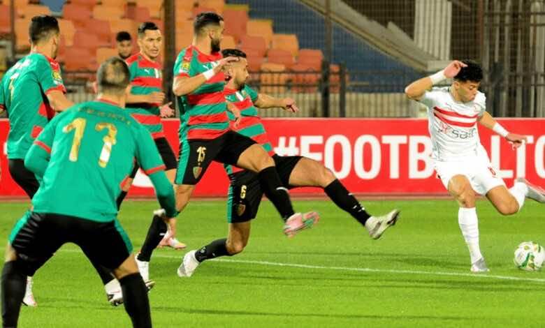 إمام عاشور في مباراة الزمالك ومولودية الجزائر في دوري ابطال افريقيا