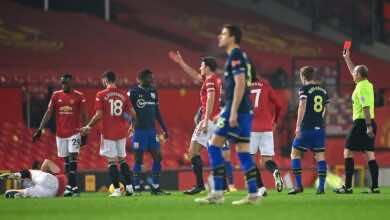 نتيجة مباراة مانشستر يونايتد وساوثامبتون في الدوري الانجليزي
