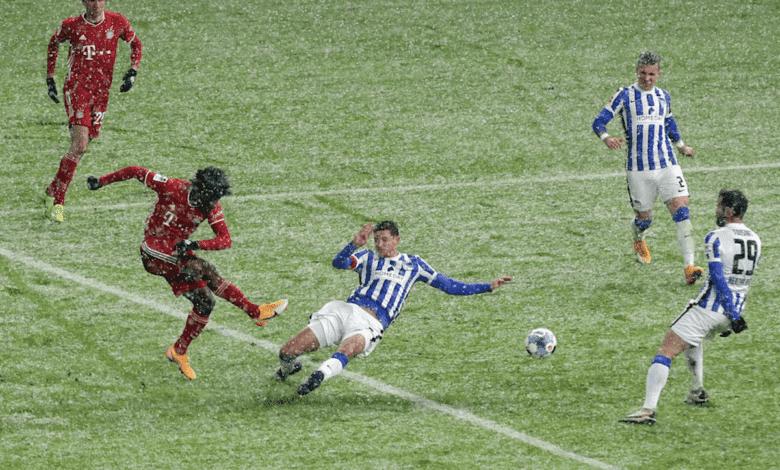 لحظة تسجيل كينجسلي كومان هدف بايرن ميونخ الوحيد أمام هيرتا برلين