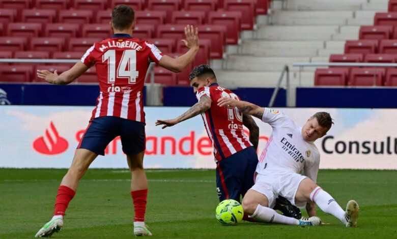 نتيجة مباراة ريال مدريد وأتلتيكو مدريد في الدوري الاسباني (صور:AFP)