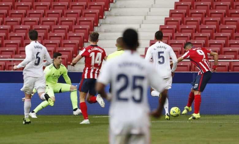 فيديو يوتيوب | شاهد اهداف مباراة ريال مدريد وأتلتيكو مدريد في الدوري الاسباني (صور:AFP)