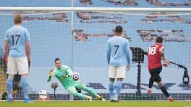 فيديو يوتيوب اهداف مباراة مانشستر يونايتد ومانشستر سيتي فى الدوري الانجليزي (صور:AFP)