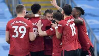فرجة لاعبو مانشستر يونايتد بالفوز على مانشستر سيتي بالبريميرليج (صور:AFP)