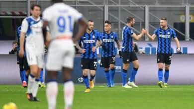 نتيجة مباراة الانتر واتلانتا في الدوري الايطالي (صور:AFP)