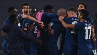 فرحة لاعبي بورتو بعد الفوز على يوفنتوس فى دوري ابطال اوروبا (صور:AFP)