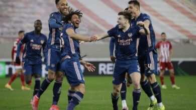 نتيجة مباراة ارسنال واولمبياكوس في الدوري الاوروبي (صور:AFP)