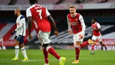 نتيجة مباراة ارسنال وتوتنهام في الدوري الانجليزي (صور:AFP)