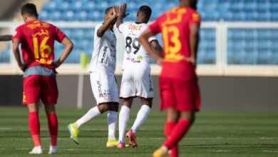 نتيجة مباراة الشباب وضمك في الدوري السعودي (صور:twitter)