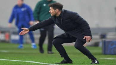 سيميوني : الفوز في الديربي لن يحسم لقب الدوري الإسباني لأتلتيكو