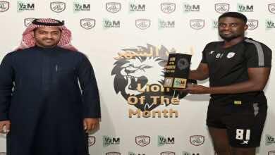 السنغالي لاعب الشباب السعودي ندياي أفضل لاعب في شهر فبراير بالدوري السعودي