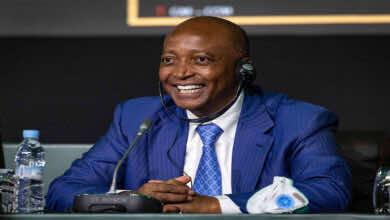 المسحل يهنئ موتسيبي برئاسة الاتحاد الأفريقي لكرة القدم