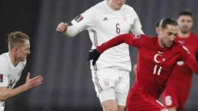 نتيجة مباراة منتخب تركيا ومنتخب لاتفيا فى تصفيات كأس العالم 2022