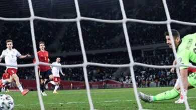 مشاهدة اهداف مباراة منتخب اسبانيا ومنتخب جورجيا فى تصفيات كأس العالم 2022 - فيديو