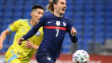 نتيجة مباراة منتخب فرنسا ومنتخب كازاخستان في تصفيات كأس العالم 2022
