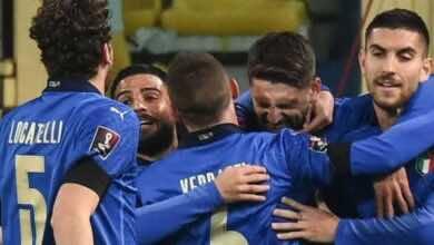 مشاهدة اهداف مباراة منتخب ايطاليا ومنتخب ايرلندا الشمالية بتصفيات كأس العالم 2022 - فيديو