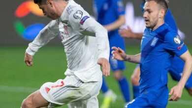 مشاهدة اهداف مباراة منتخب اسبانيا ومنتخب اليونان في تصفيات كأس العالم - فيديو