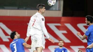 """نتيجة مباراة منتخب اسبانيا ومنتخب اليونان في تصفيات كأس العالم 2022 """"تعادل مخيب للاروخا"""""""