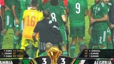 مشاهدة فيديو اهداف مباراة منتخب الجزائر ومنتخب زامبيا في تصفيات امم افريقيا 2021