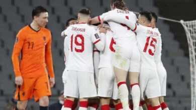 """نتيجة مباراة هولندا وتركيا فى تصفيات كأس العالم 2022 """"اكتساح تركي"""""""