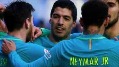 برشلونة لم يسجل سداسية خارج كامب نو في الدوري الاسباني منذ أيام MSN عام 2017