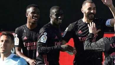 """نتيجة مباراة ريال مدريد وسلتا فيغو في الدوري الاسباني """"الريال يضغط على برشلونة"""""""