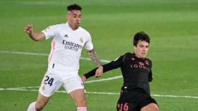 ماريانو دياز في مباراة ريال مدريد وريال سوسيداد