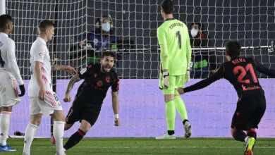 بورتو يسجل هدف ريال سوسيداد امام ريال مدريد في الدوري الاسباني