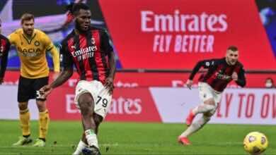 فرانك كيسييه يسجل هدف تعادل ميلان أمام أودينيزي في الدوري الايطالي