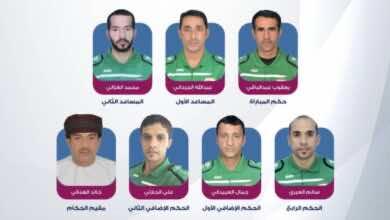 طاقم حكام نهائي كأس عمان جلالة السلطان المعظم