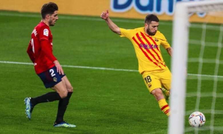 جوردي ألبا يسجل هدفه الـ 22 مع برشلونة ليصبح ثاني أكثر مدافع في تاريخ النادي يتمكن من تسجيل الاهداف خلف جيرارد بيكيه صاحب 50 هدفًا