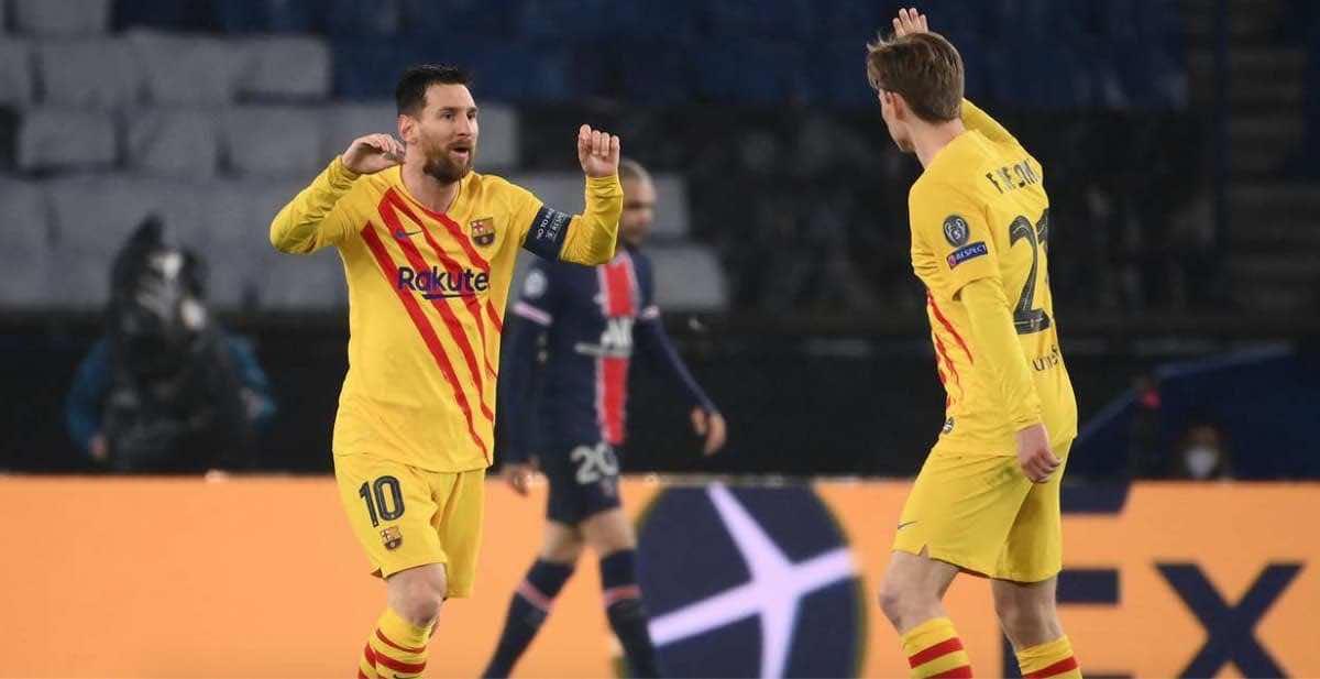 ميسي يسجل هدف تعادل برشلونة امام باريس في اياب دور ال16 من دوري ابطال اوروبا